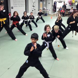 Karate class at Action Karate - Plymouth.