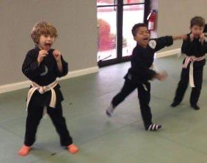 Kindergarten karate class