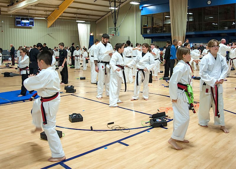 A recent Action Karate Black Belt Leadership Test