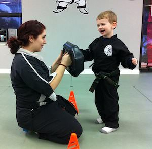 Young students at Action Karate Plymouth.