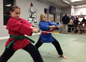 Karate weapons training at Action Karate Plymouth Meeting.