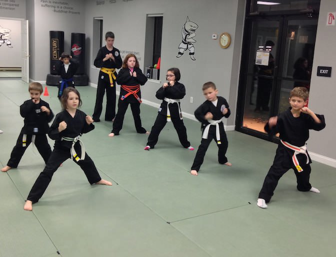 A recent karate class at Action Karate Plymouth