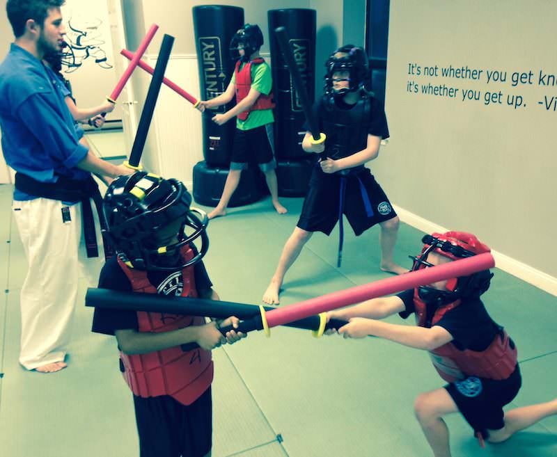 Action Plymouth hosted a foam sword seminar.